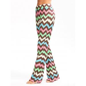 Zigzag Printed Multicolor Flare Pants