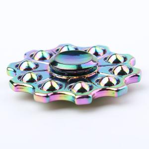 Fiddle Toy Zinc Alloy Colorful Finger Gyro Hand Spinner - COLORFUL 6*6*1.5CM