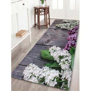 Indoor Outdoor Flowers Coral Velvet Area Rug - Colormix - W24 Inch * L71 Inch
