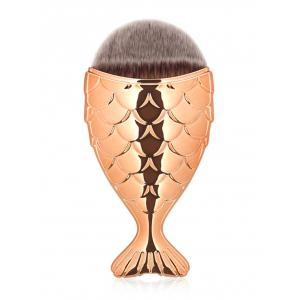 Portable Mermaid Facial Makeup Brush - Rose Gold