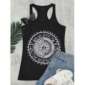 Racerback Tunic Graphic Top