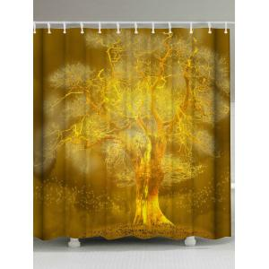 Golden Tree Bathroom Extra Long Shower Curtain
