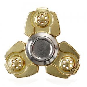 Russia CKF Alloy Finger Gyro Stress Relief Toys Fidget Spinner - Golden - 6*6cm