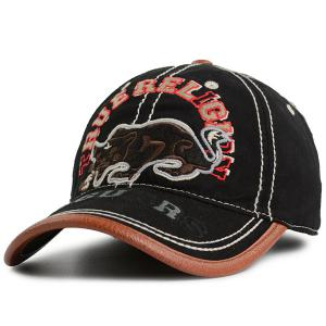 Denim Cat Letters Embroidered Baseball Hat