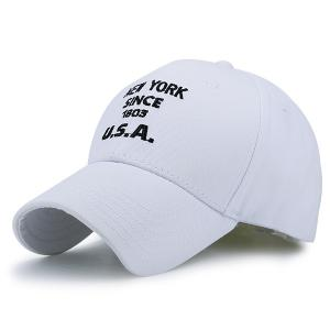 American Element Letters Number Embroidery Baseball Cap - White