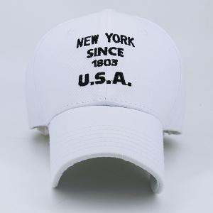 American Element Letters Number Broderie Baseball Cap - Blanc