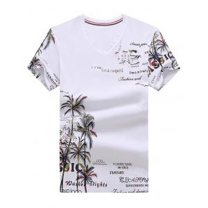 Coconut Tree Graphic Printed Tee