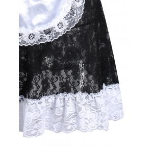 Lace See Through Maid Cosplay Outfits - Noir TAILLE MOYENNE