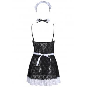 Lace See Through Maid Cosplay Outfits -
