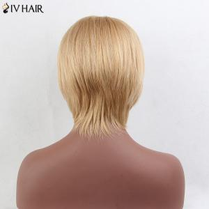 Siv Hair Short Side Bang Silky Straight Human Hair Wig -