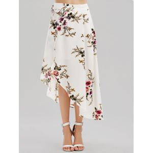 Floral Asymmetrical Wrap Skirt -