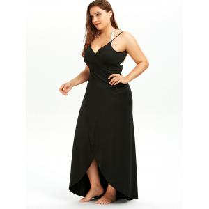 Black 5xl Plus Size Cover Up Beach Wrap Dress | RoseGal.com