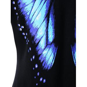 Butterfly Printed Short Sleeve Tee - BLACK L