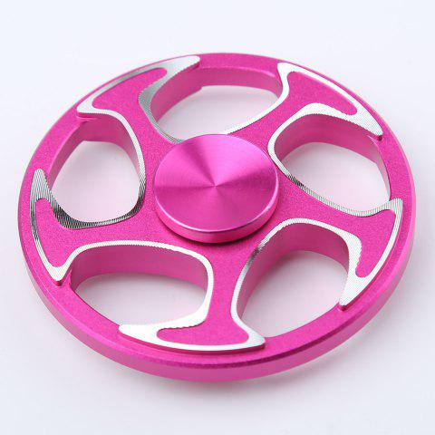 Unique Fiddle Toy Wheel Aluminium Alloy Finger Gyro Hand Spinner ROSE MADDER 6.3*6.3*1.5CM