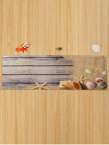 Discount Extra Large Coral Velvet Plank Shell Area Rug - W24 INCH * L71 INCH COLORMIX Mobile