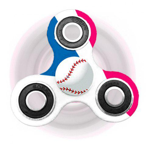 Shop Fiddle Toy Tri-bar Baseball Patterned Plastic Fidget Spinner