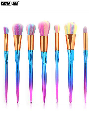Store MAANGE 7Pcs Multicolor Hair Sunk Handle Makeup Brush Set - COLORFUL  Mobile