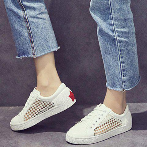 Shops Breathable Mesh Athletic Shoes - 40 WHITE Mobile