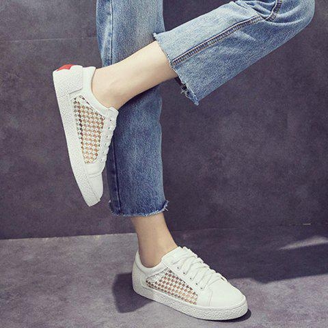 Outfit Breathable Mesh Athletic Shoes - 40 WHITE Mobile