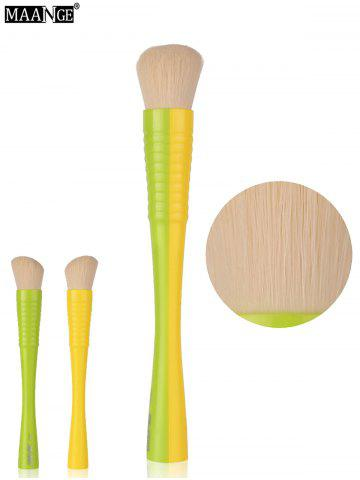 Latest MAANGE Color Blocking Blush Brush - GREEN AND YELLOW  Mobile