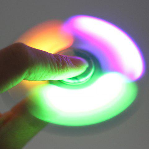 Outfits Tri-bar Patterned Plastic Fidget Spinner with Flashing LED Lights - COLORMIX  Mobile
