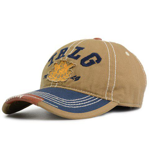 Lettres Bouddha Stripe Brodé Casquette Camel TAILLE MOYENNE