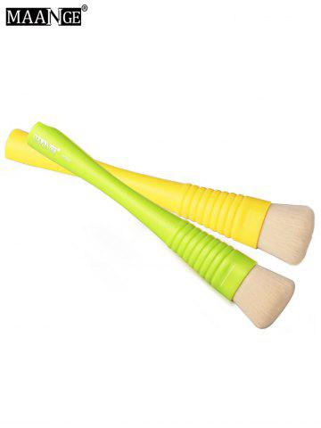 Discount MAANGE Multifunctional Foundation Brush - YELLOW AND GREEN  Mobile