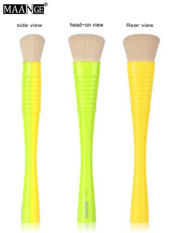 Affordable MAANGE Multifunctional Foundation Brush - YELLOW AND GREEN  Mobile