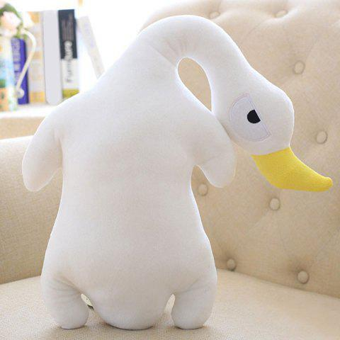 Sale Creative Decorated Stuffed Toy Goose Velboa Throw Pillow - WHITE  Mobile