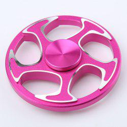 Fiddle Toy Wheel Aluminium Alloy Finger Gyro Hand Spinner - ROSE MADDER 6.3*6.3*1.5CM