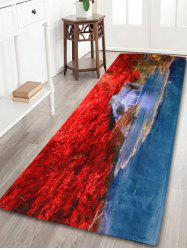 Soft Coral Velvet Nature Scenery Indoor Outdoor Rug