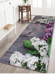 Indoor Outdoor Flowers Coral Velvet Area Rug - COLORMIX