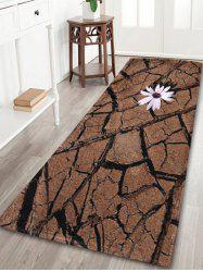 Coral Velvet Absorption Land Fissure Print Bath Rug