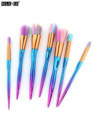 MAANGE 7Pcs Multicolor Hair Sunk Handle Makeup Brush Set