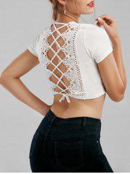 Cut Out Lace Up Crop Top