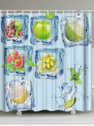 Eco-Friendly Frozen Fruits Print Shower Curtain