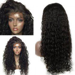 Long Dyed Perm Deep Side Part Curly Lace Front Human Hair Wig