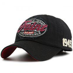 Letters Patchwork Baseball Cap with Number Embroidery