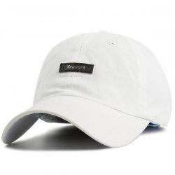 Tiny Letters New York Embellished Baseball Cap - WHITE