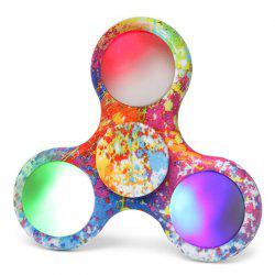 Tri-bar Patterned Plastic Fidget Spinner with Flashing LED Lights - COLORMIX