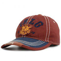 Letters Buddha Stripe Embroidered Baseball Cap