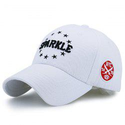 Pentagram Embellished Letters Icon Embroidery Baseball Hat