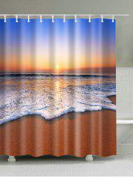 Water Resistant Fabric Sunset Beach Shower Curtain