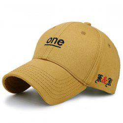 Plain Letters Embroidery Baseball Cap