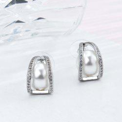 Rhinestoned Faux Pearl Statement Earrings
