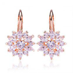 Rhinestoned Blossom Drop Earrings
