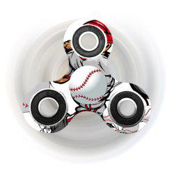 Fiddle Toy Tri-bar Baseball Patterned Plastic Fidget Spinner