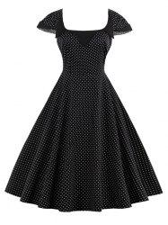 Polka Dot Skater Vintage Dress