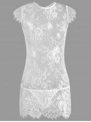 Cut Out Lace See Thru Babydoll