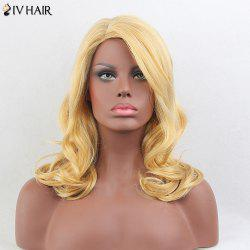 Siv Hair Long Wavy Side Parting Human Hair Wig
